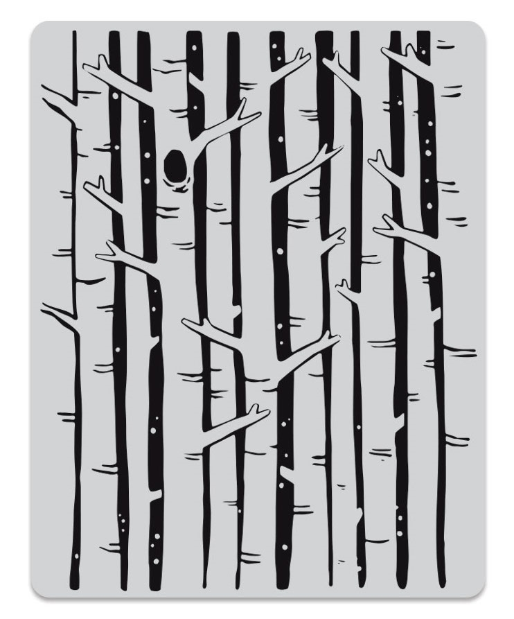 Hero Arts Cling Stamps BIRCH FOREST BACKGROUND CG781 zoom image