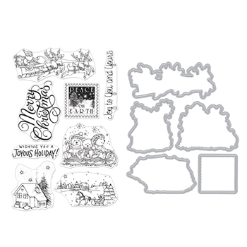 Hero Arts FROM THE VAULT WINTER JOY Clear Stamp and Die Combo SB240