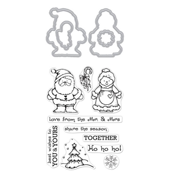 Hero Arts Stamp and Cuts FROM THE VAULT MR. AND MRS. Set DC268