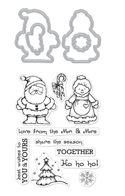 Hero Arts Stamp and Cuts FROM THE VAULT MR. AND MRS. Set DC268 zoom image
