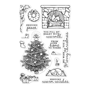 Hero Arts Clear Stamps FROM THE VAULT HOME SCENE CM385