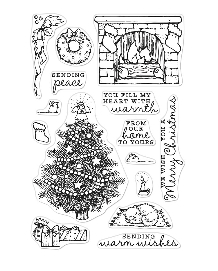 Hero Arts Clear Stamps FROM THE VAULT HOME SCENE CM385* zoom image