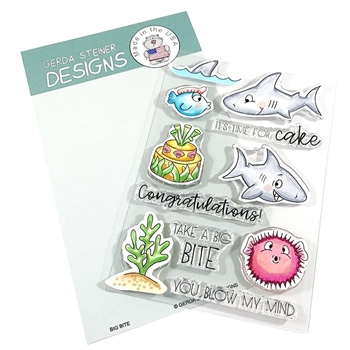 Gerda Steiner Designs BIG BITE Clear Stamp Set gsd693