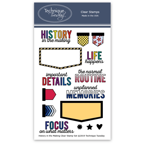 Technique Tuesday HISTORY IN THE MAKING Clear Stamps 2798 Preview Image