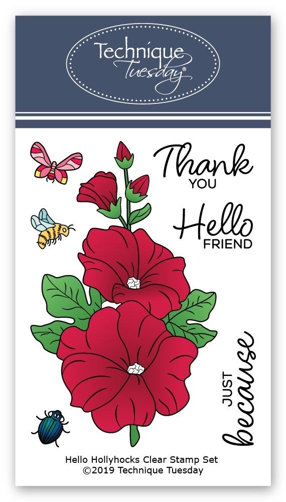 Technique Tuesday HELLO HOLLYHOCKS Clear Stamps 2800 zoom image