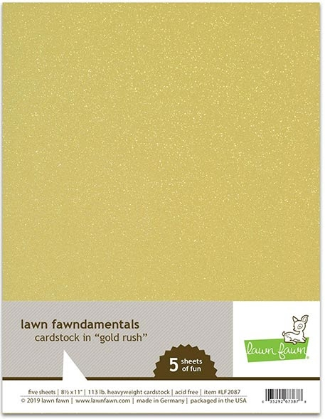Lawn Fawn GOLD RUSH Cardstock LF2087 zoom image