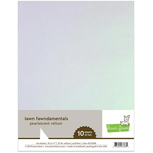 Lawn Fawn PEARLESCENT Vellum 8.5 x 11 Translucent LF2088 Preview Image