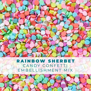 Trinity Stamps RAINBOW SHERBET CANDY CONFETTI SPRINKLES Embellishment Box 171052