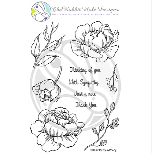The Rabbit Hole Designs PRETTY IN PEONY Clear Stamps TRH 22 zoom image