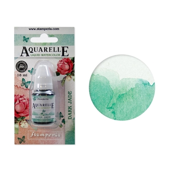 Stamperia DARK JADE Aquarelle Watercolor kawcl06