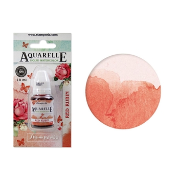 Stamperia RED RUBIN Aquarelle Watercolor kawcl03*