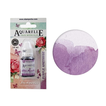 Stamperia PURPLE AMETHYST Aquarelle Watercolor kawcl10