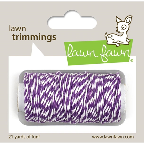 Lawn Fawn Eggplant Single Cord Trimmings
