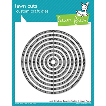 Lawn Fawn JUST STITCHING DOUBLE CIRCLES Custom Craft Dies LF2066