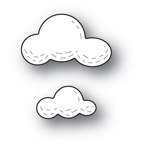 Poppy Stamps WHITTLE CLOUDS Craft Die 2217 Preview Image