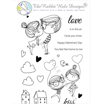 The Rabbit Hole Designs LOVE YOU MORE Clear Stamps TRH-05