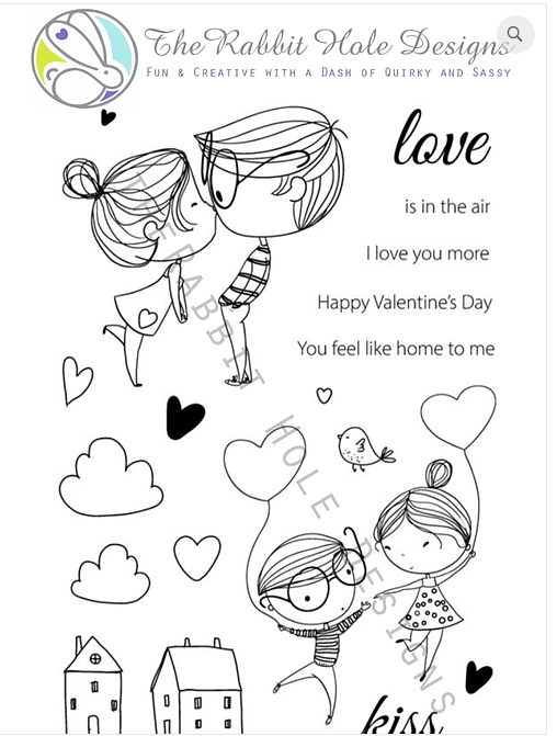 The Rabbit Hole Designs LOVE YOU MORE Clear Stamps TRH-05 zoom image