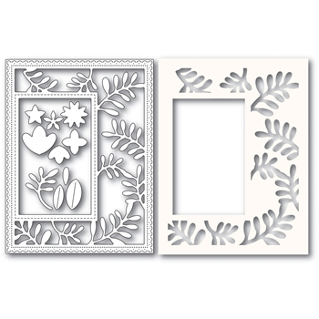 Poppy Stamps FUN FLORAL SIDEKICK FRAME Craft Dies and Stencil 2220