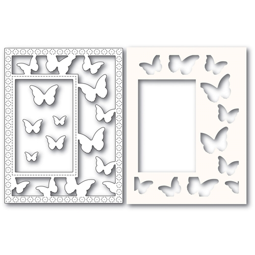 Poppy Stamps BEAUTIFUL BUTTERFLIES SIDEKICK FRAME Craft Dies and Stencil 2221 Preview Image