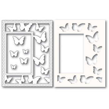 Poppy Stamps BEAUTIFUL BUTTERFLIES SIDEKICK FRAME Craft Dies and Stencil 2221