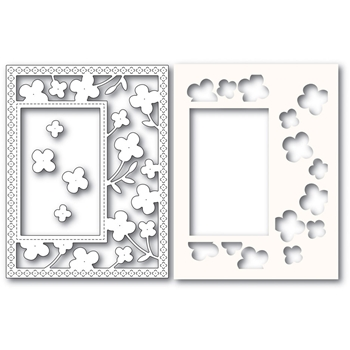 Poppy Stamps SUMMER BLOSSOMS SIDEKICK FRAME Craft Dies and Stencil 2222