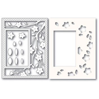 Poppy Stamps BLOOMING BRANCHES SIDEKICK FRAME Craft Dies and Stencil 2223