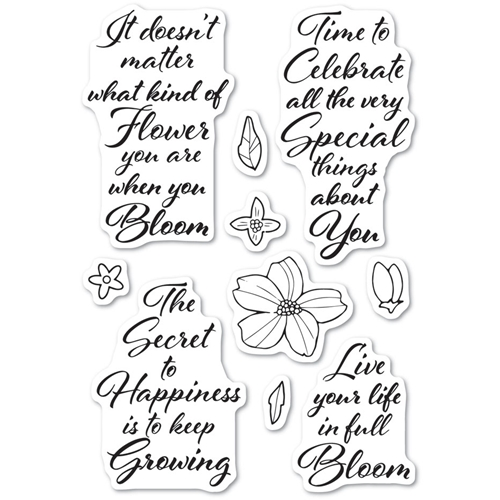 Poppy Stamps Clear Stamps BLOOMING GREETINGS cl482 Preview Image