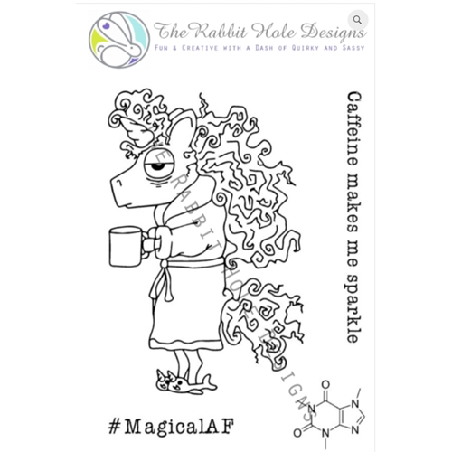 The Rabbit Hole Designs CAFFEINATED UNICORN Clear Stamps TRH 02 Preview Image