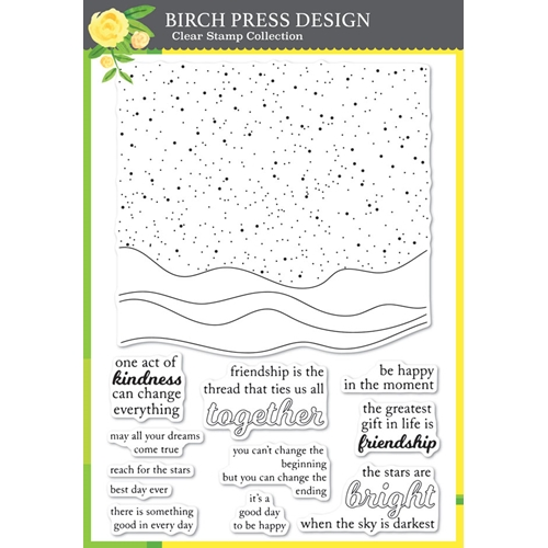 Birch Press Design CELESTIAL WAVES Clear Stamp Set cl8144 Preview Image