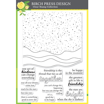 Birch Press Design CELESTIAL WAVES Clear Stamp Set cl8144