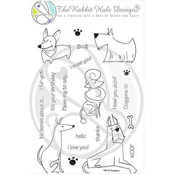 The Rabbit Hole Designs DOGGONE Clear Stamps TRH 24*