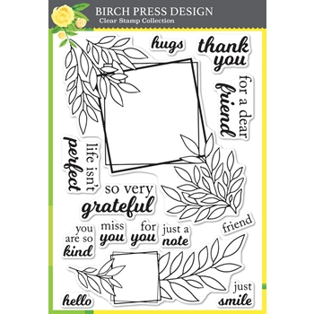 Birch Press Design GRATEFUL LEAF FRAMES Clear Stamp Set cl8147