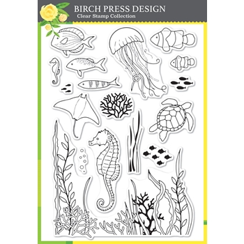 Birch Press Design OCEAN FANTASY Clear Stamp Set cl8148