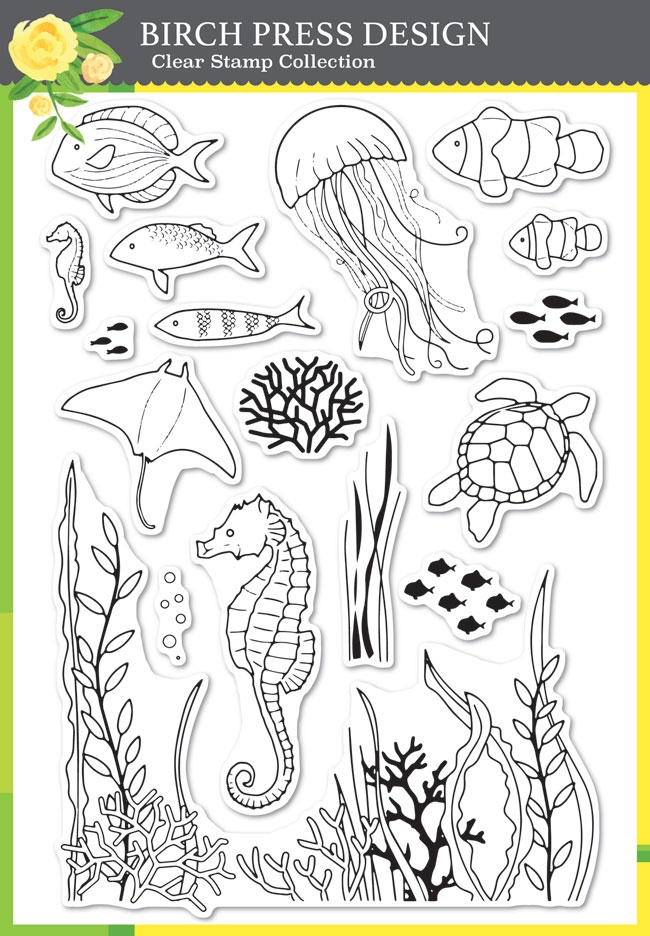 Birch Press Design OCEAN FANTASY Clear Stamp Set cl8148 zoom image