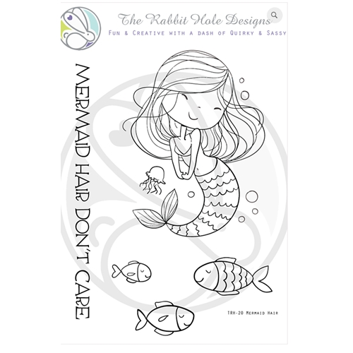 The Rabbit Hole Designs MERMAID HAIR Clear Stamps TRH 20 Preview Image