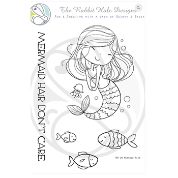 The Rabbit Hole Designs MERMAID HAIR Clear Stamps TRH 20