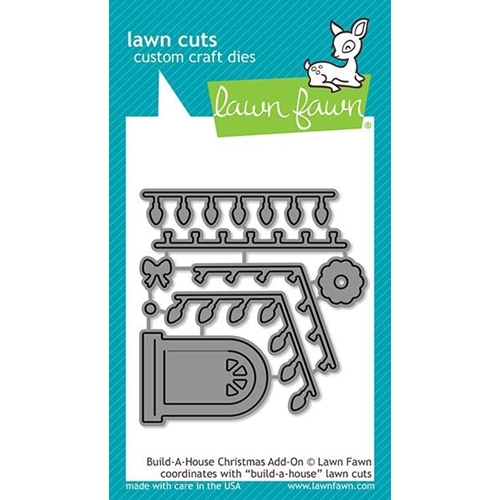 Lawn Fawn BUILD A HOUSE CHRISTMAS ADD ON Custom Craft Dies LF2048 Preview Image