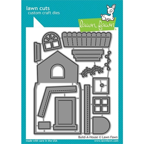 Lawn Fawn BUILD A HOUSE Custom Craft Dies LF2046 Preview Image