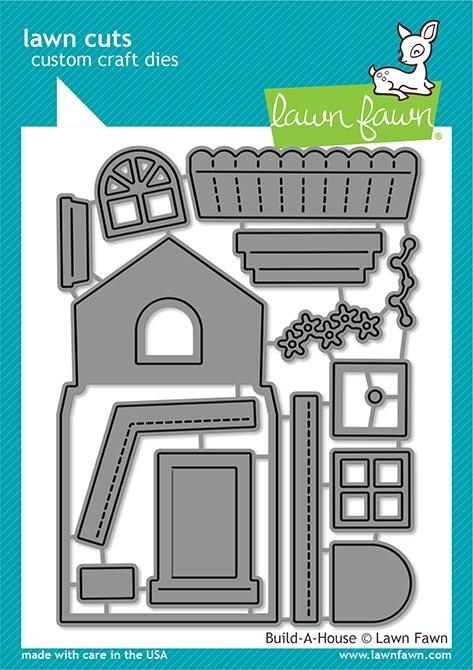 Lawn Fawn BUILD A HOUSE Custom Craft Dies LF2046 zoom image