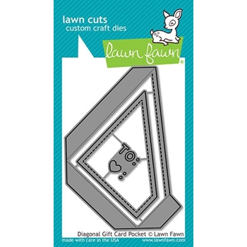 Lawn Fawn DIAGONAL GIFT CARD POCKET Custom Craft Dies LF2045