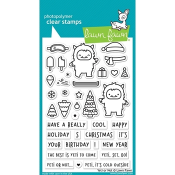 Lawn Fawn YETI OR NOT Clear Stamps LF2027