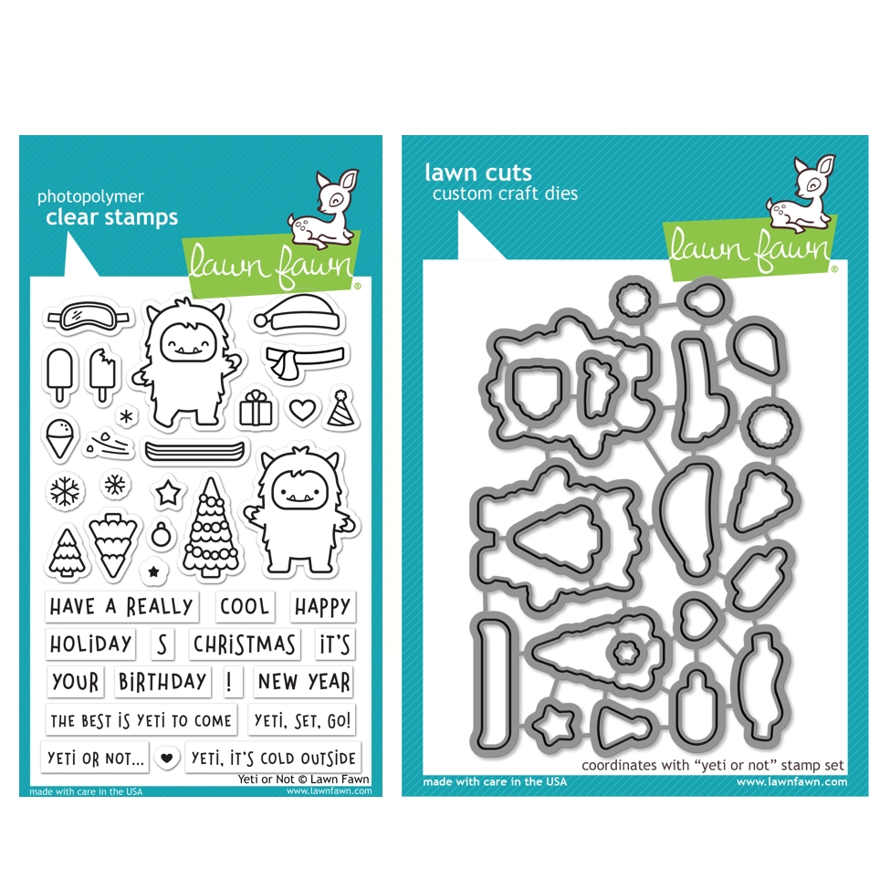 Lawn Fawn SET YETI OR NOT Clear Stamps and Dies HLFYON zoom image