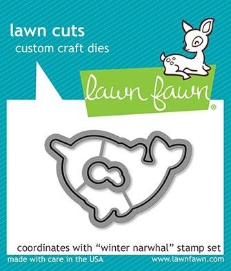 Lawn Fawn WINTER NARWHAL Custom Craft Dies LF2039 Preview Image