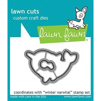 RESERVE Lawn Fawn WINTER NARWHAL Custom Craft Dies LF2039