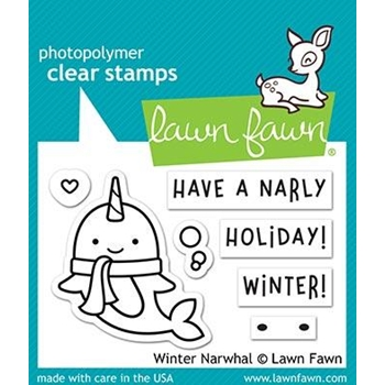 RESERVE Lawn Fawn WINTER NARWHAL Clear Stamps LF2038