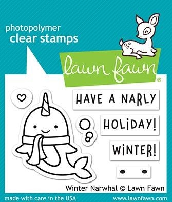 Lawn Fawn WINTER NARWHAL Clear Stamps LF2038 zoom image