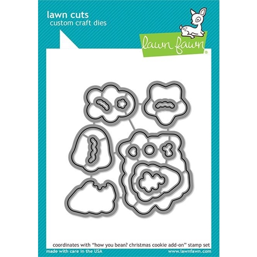 Lawn Fawn HOW YOU BEAN CHRISTMAS COOKIE ADD ON Custom Craft Dies LF2034 Preview Image