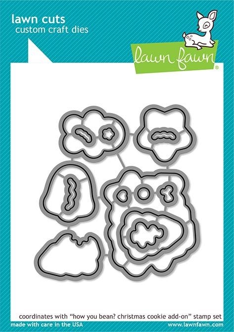 Lawn Fawn HOW YOU BEAN CHRISTMAS COOKIE ADD ON Custom Craft Dies LF2034 zoom image