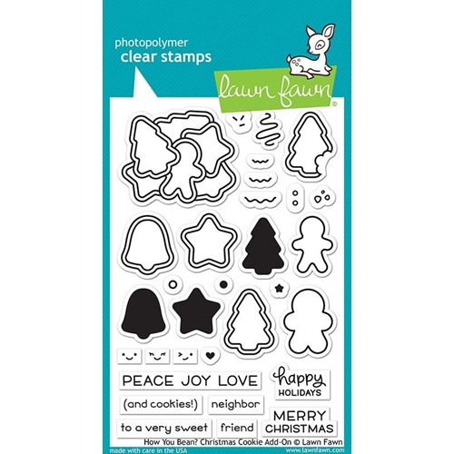 Lawn Fawn HOW YOU BEAN CHRISTMAS COOKIE ADD ON Clear Stamps LF2033 Preview Image