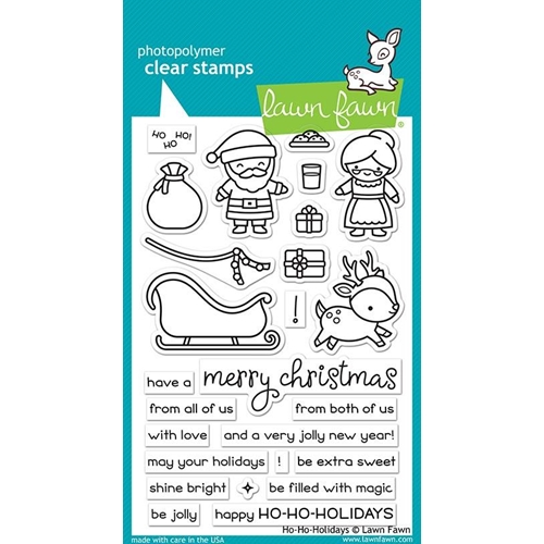 Lawn Fawn HO HO HOLIDAYS Clear Stamps LF2029 Preview Image